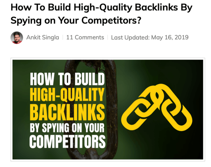How to Build High-Quality Backlinks