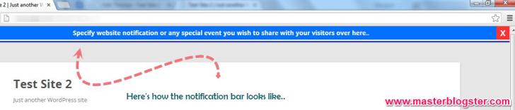 free notification bar for wordpress blog