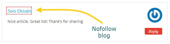 blog with nofollow attribute