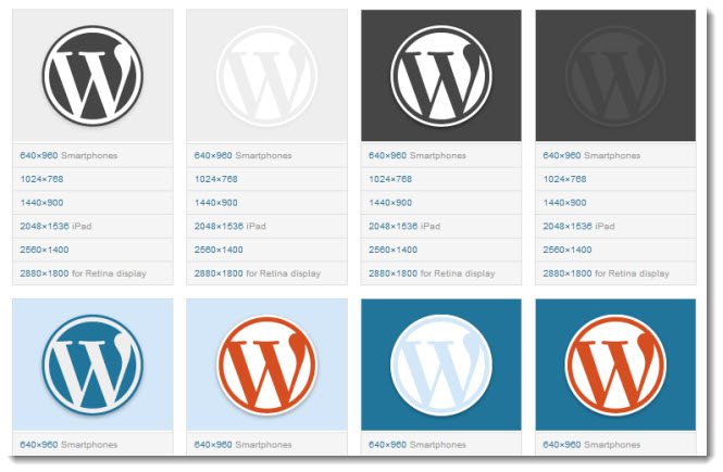 official wordpress logos