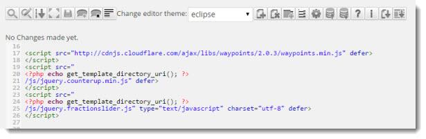Advanced code editor for wordpress