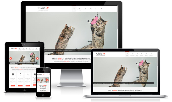 5 Free Responsive HTML Templates Built with Bootstrap 2015