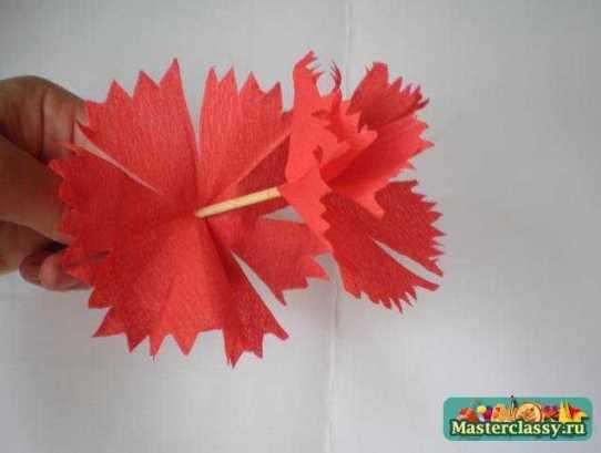 Цветы из бумаги. Гвоздики. Мастер класс