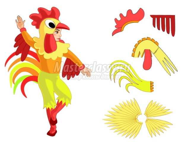 Костюм курицы для взрослого своими руками