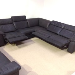 Leather Corner Sofa With Electric Recliner French Antique Natuzzi Edition Sensor B760 Reclining Arm To