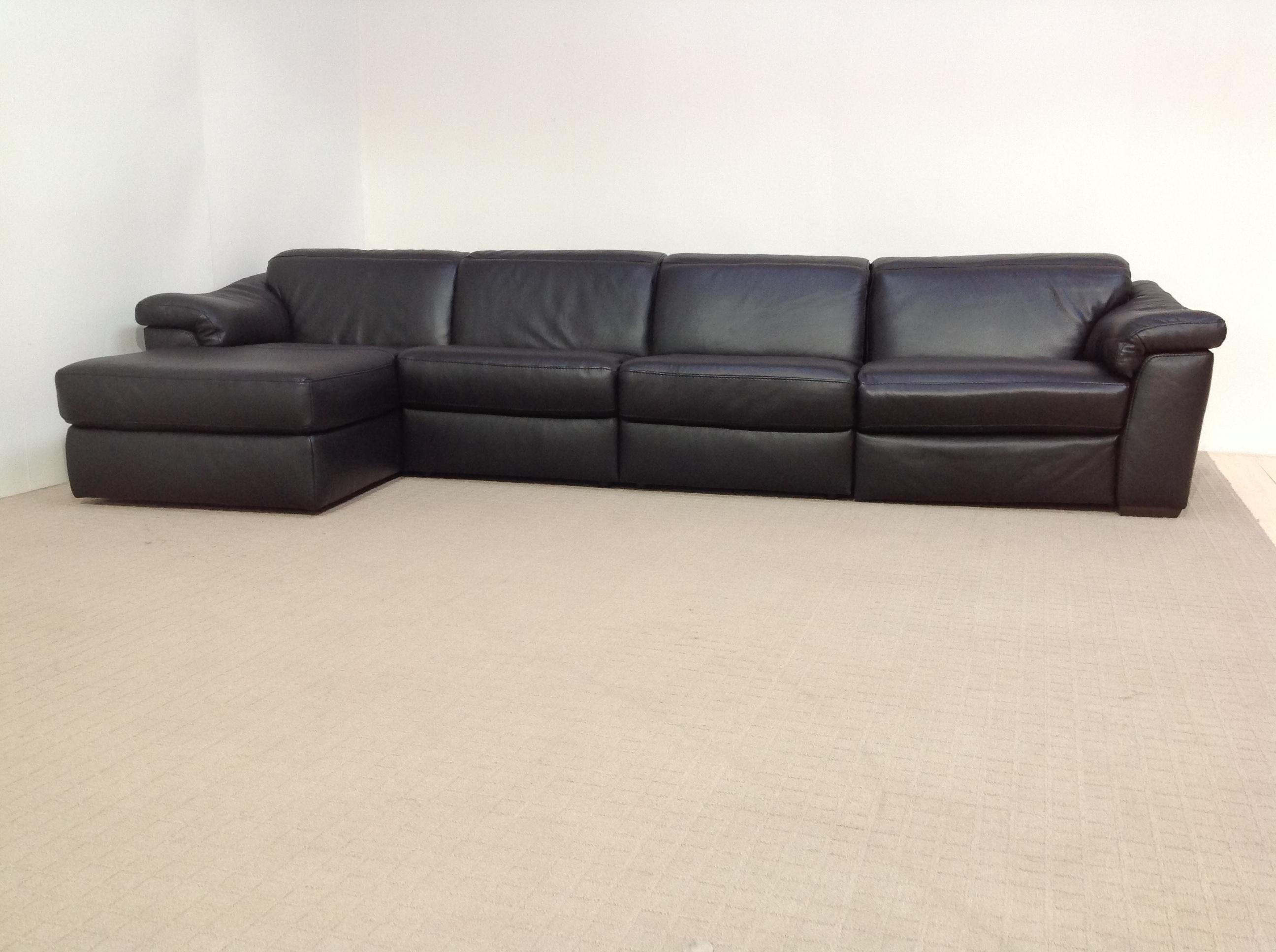 natuzzi sofa bed clearance low modular edition sensor b760 power black full leather 4