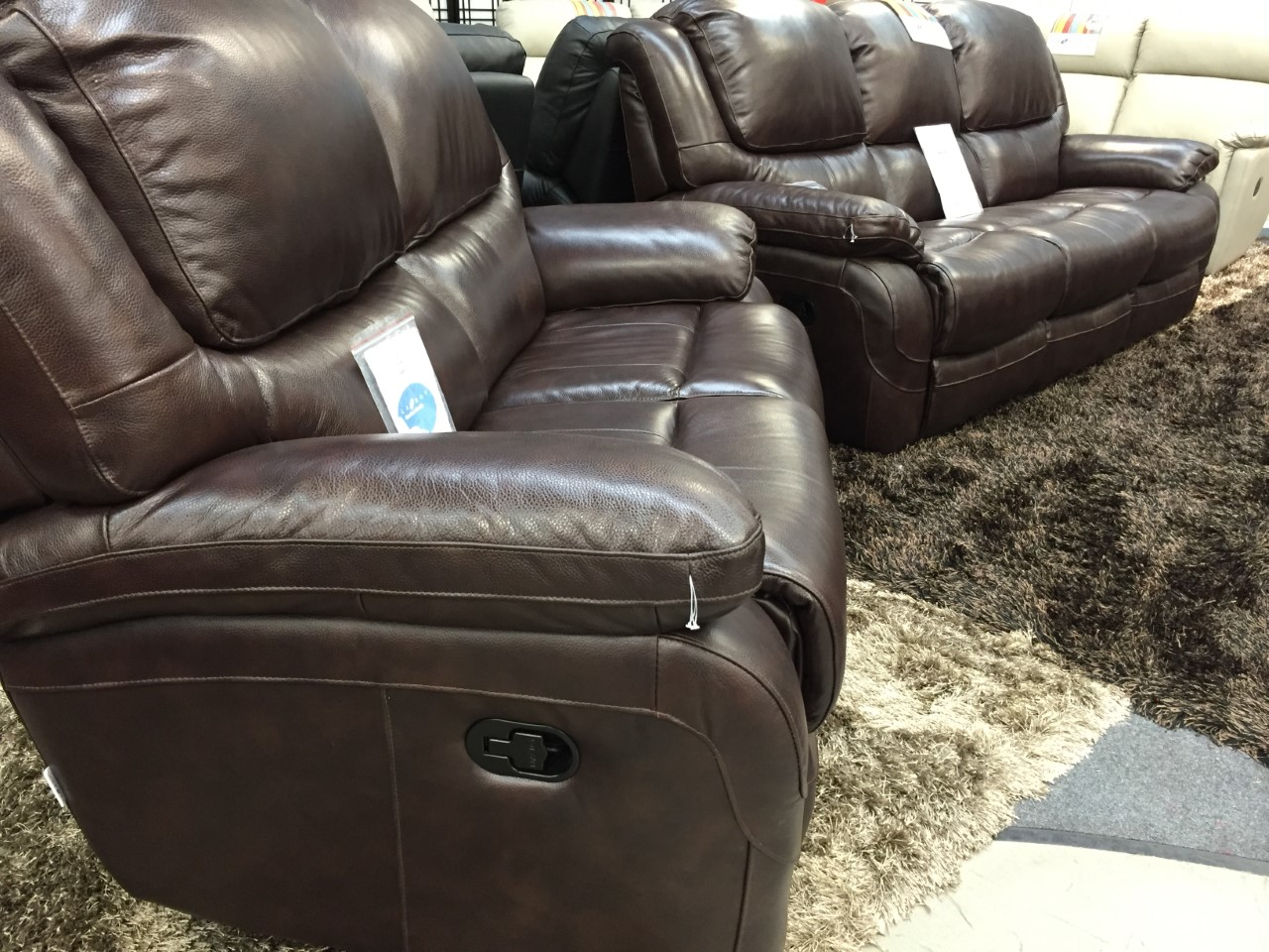 la z boy recliner chairs uk custom chair covers canada ava leather 3 and 2 seater manual sofas