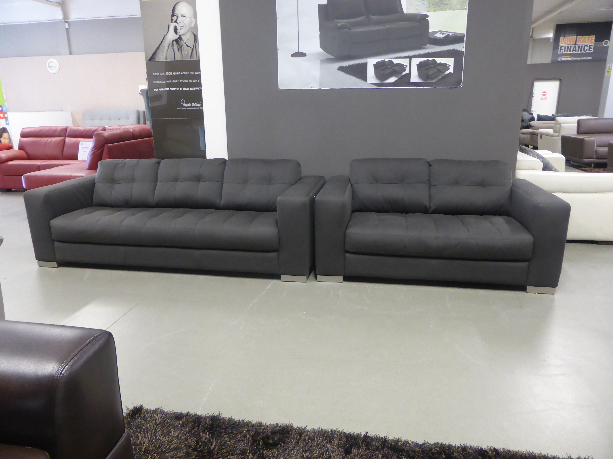 grey fabric sofa uk small 2 seater leather bed natuzzi group furnimax brands outlet