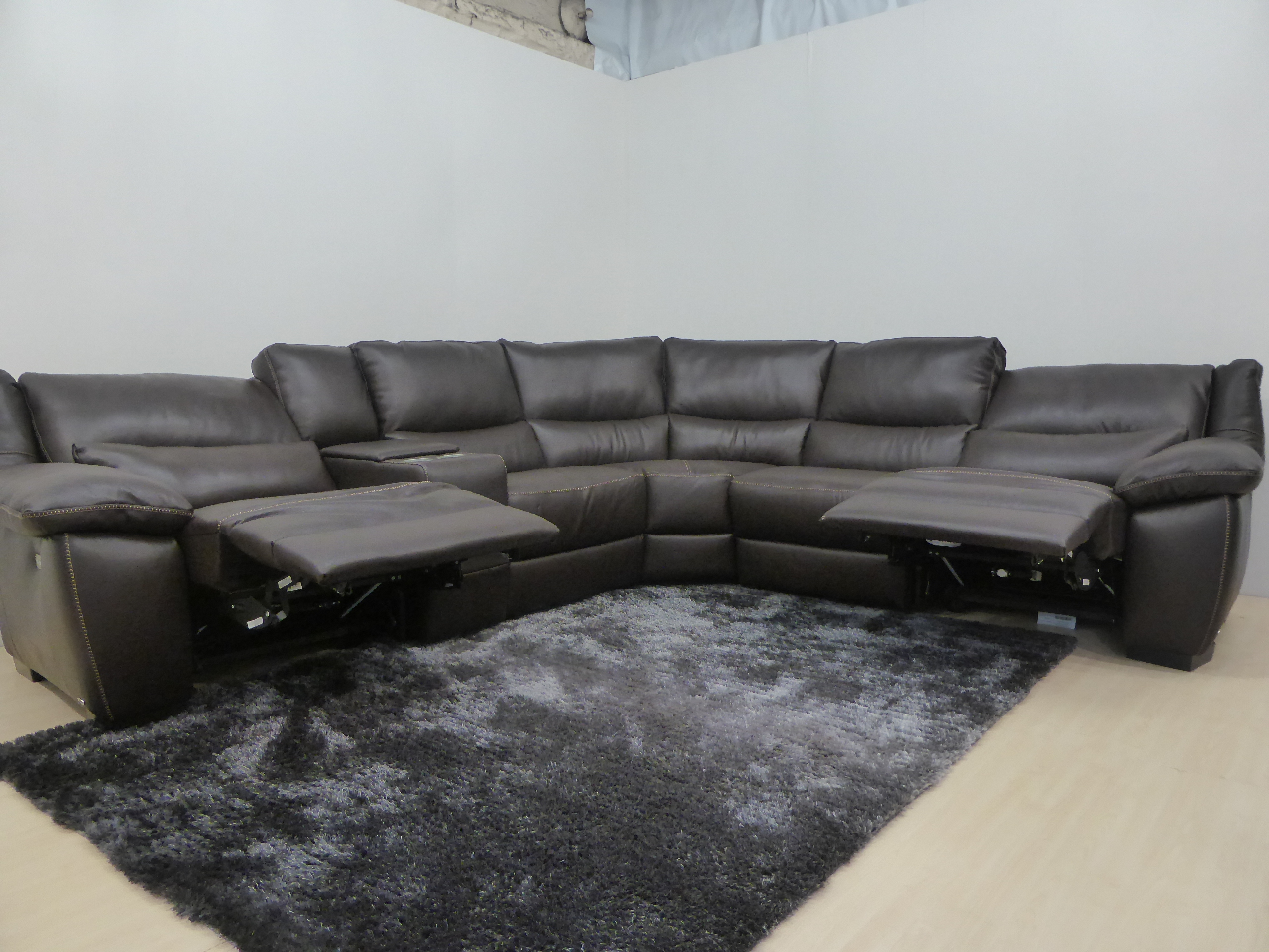 real leather corner sofas uk sofa specialists anaheim ca genuine power reclining made by