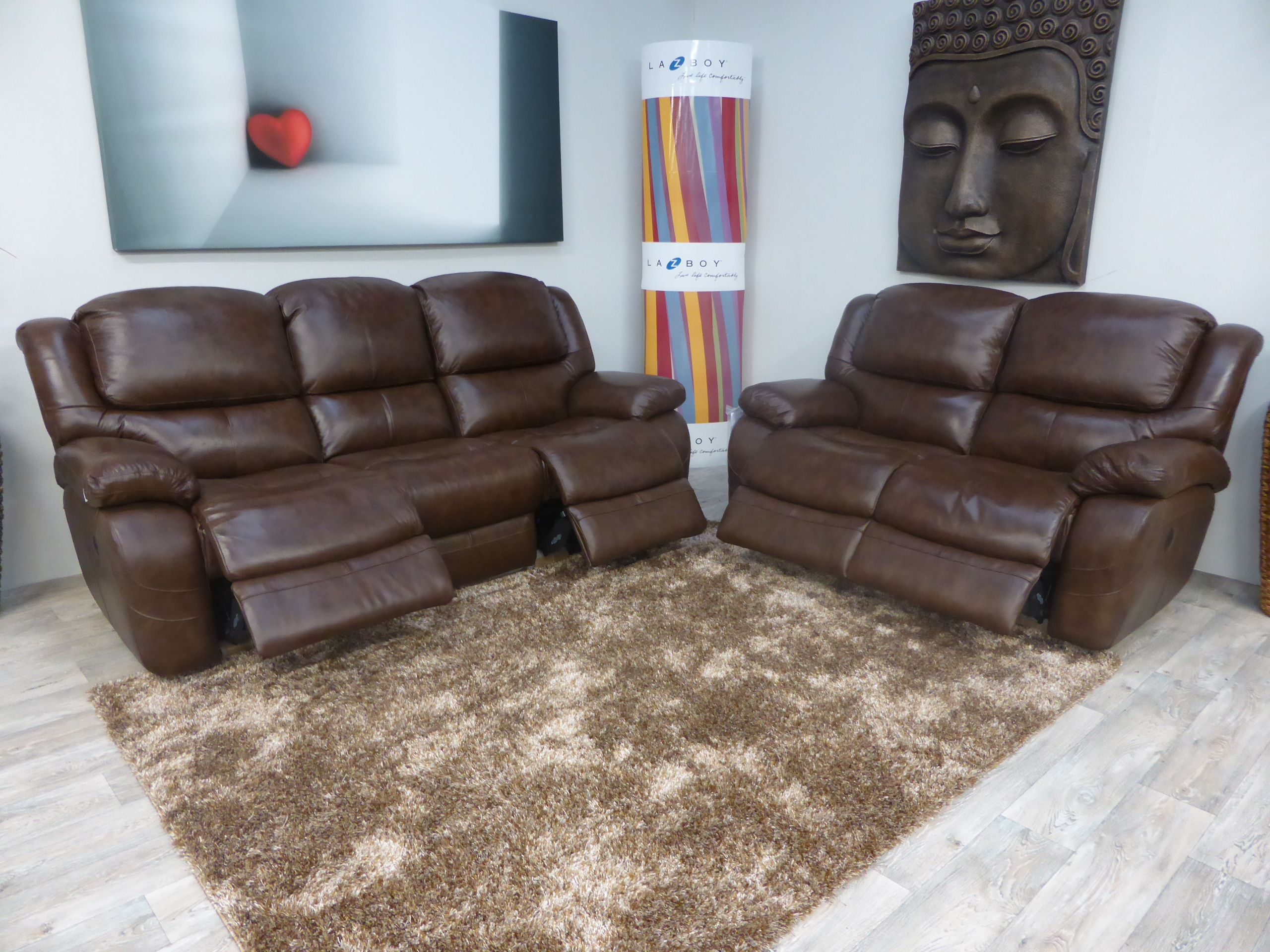 la z boy recliner chairs uk overstuffed chair and ottoman covers ava leather 3 seater power 2 manual