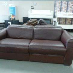 Natuzzi Electric Recliner Sofa Pink Sofas Ireland Salerno Natural Leather 3 Seater