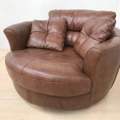Swivel Cuddle Chair York Office High Mizzoni Italia Quality Leather