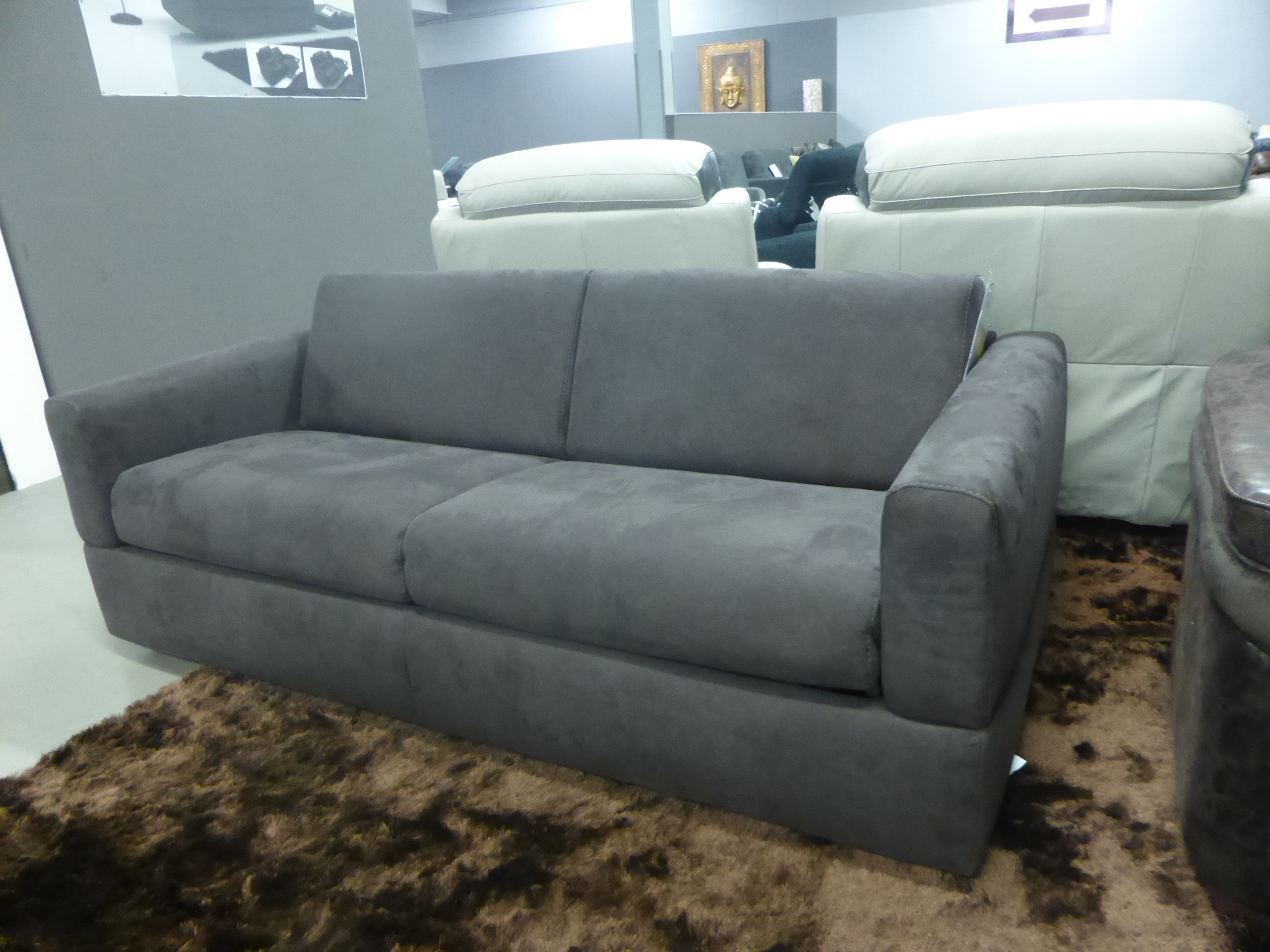 natuzzi sofa bed clearance city sweetheart rossana manufactured by comfortable brown fabric