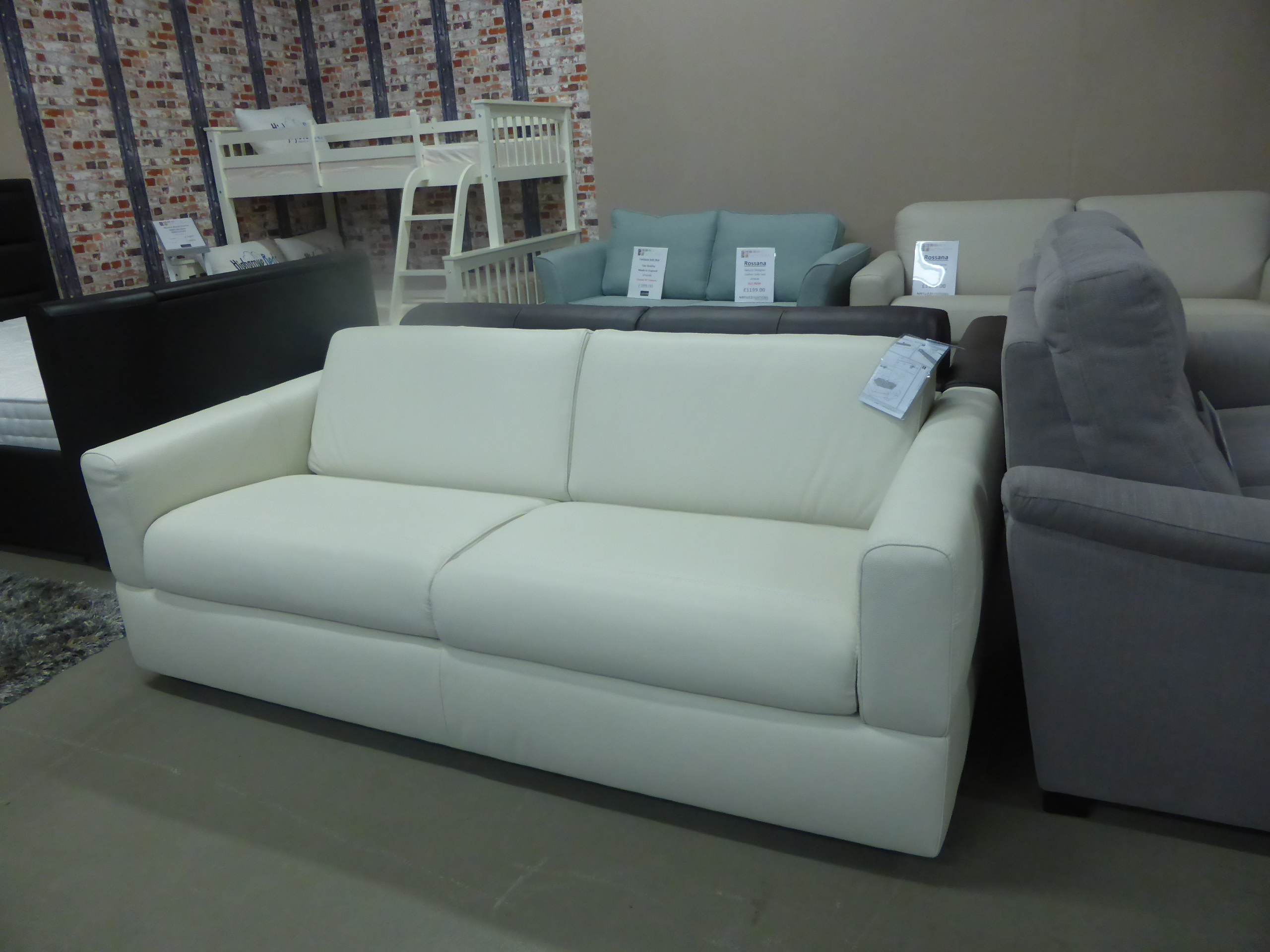 natuzzi sofa bed clearance catnapper voyager editions rossana italian leather white