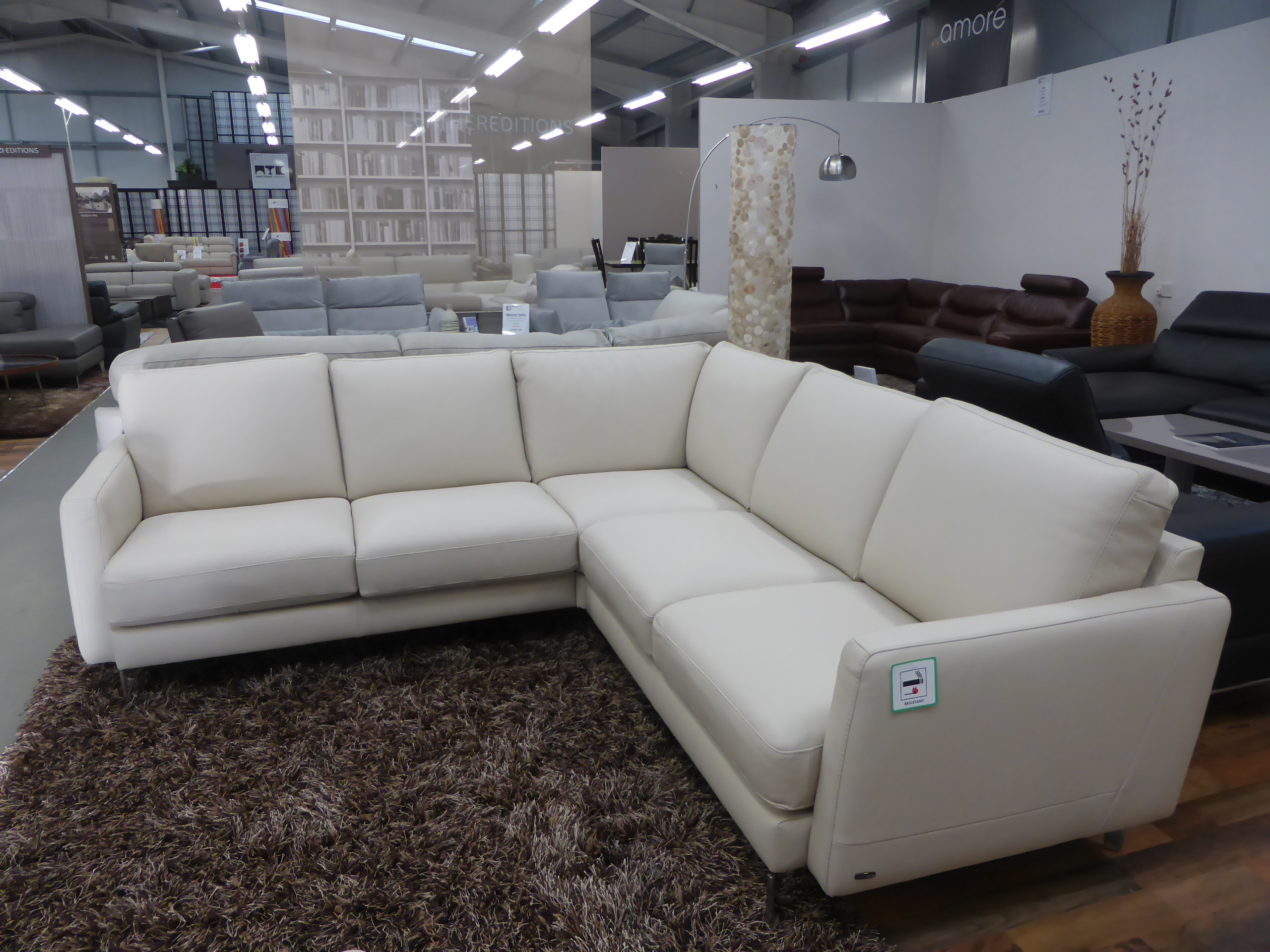 natuzzi sectional sofa connectors black recliner uk editions ercole b973 italian leather arm to
