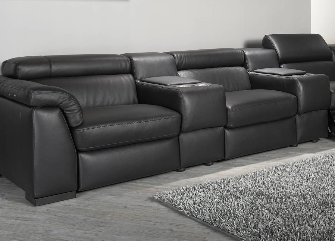 home cinema sofa seating uk velvet green natuzzi editions encore power reclining