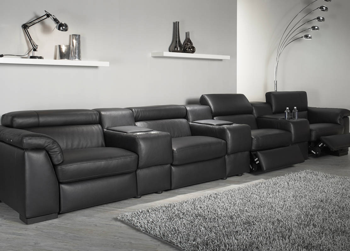 home cinema sofa seating uk grey on carpet natuzzi editions encore power reclining
