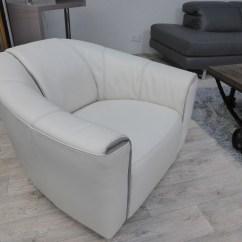 Natuzzi Swivel Chair White Adirondack Chairs Editions Perno Leather Cream B769