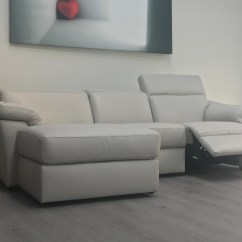 Marco Cream Chaise Sofa By Factory Outlet Room Set Natuzzi Editions Michelle Leather Power Recliner Corner