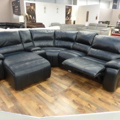 Corner Sofa With Recliner And Chaise Pillows Discount Mizzoni Grande Reclining Furnimax