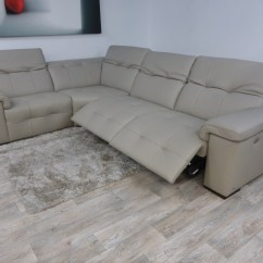 Leather Corner Sofa With Electric Recliner Divan Ideas Editions Avant Garde Reclining
