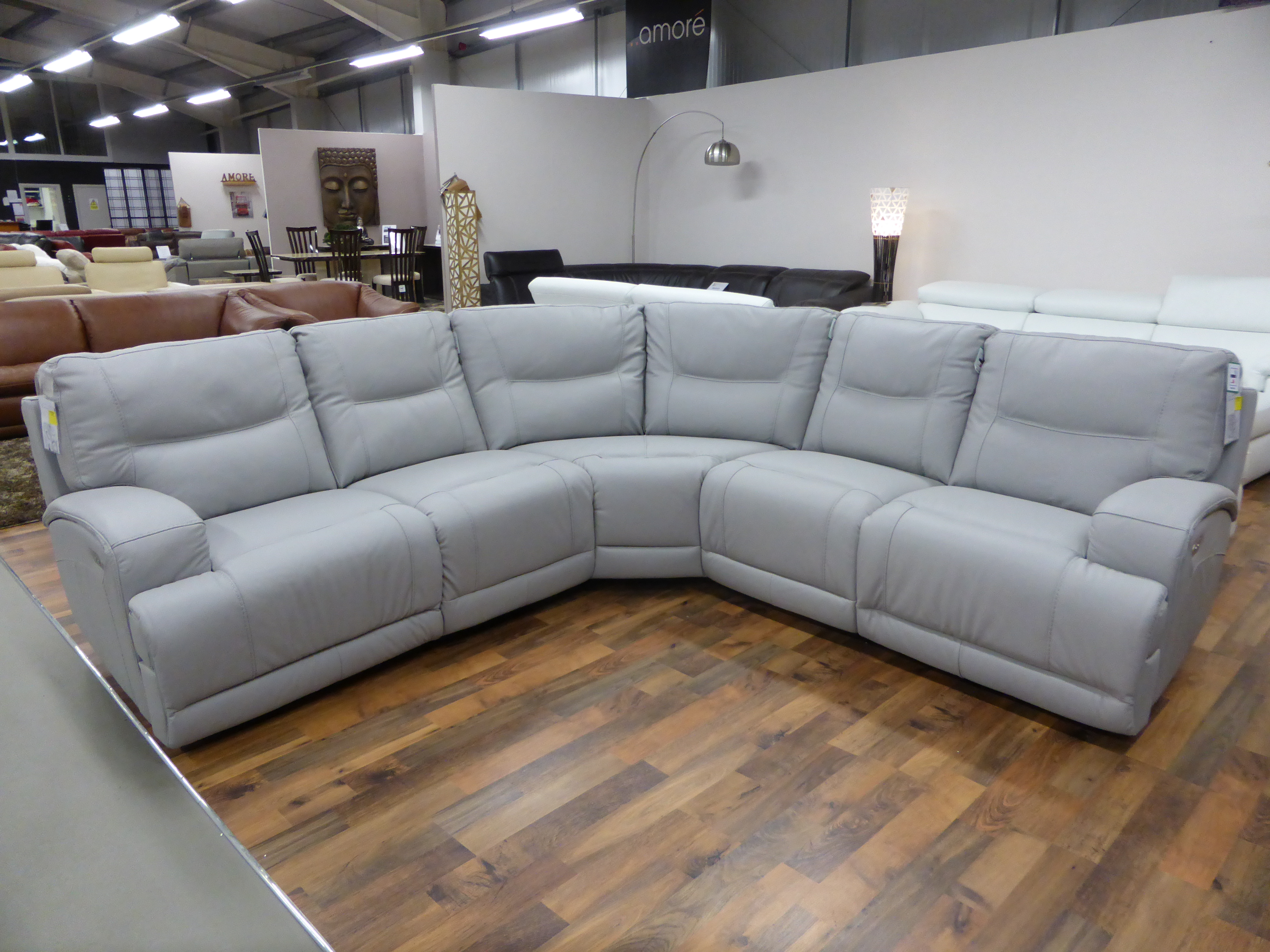 electric recliner leather sofas uk 66 inch outdoor sofa cushion venice reclining corner furnimax brands outlet