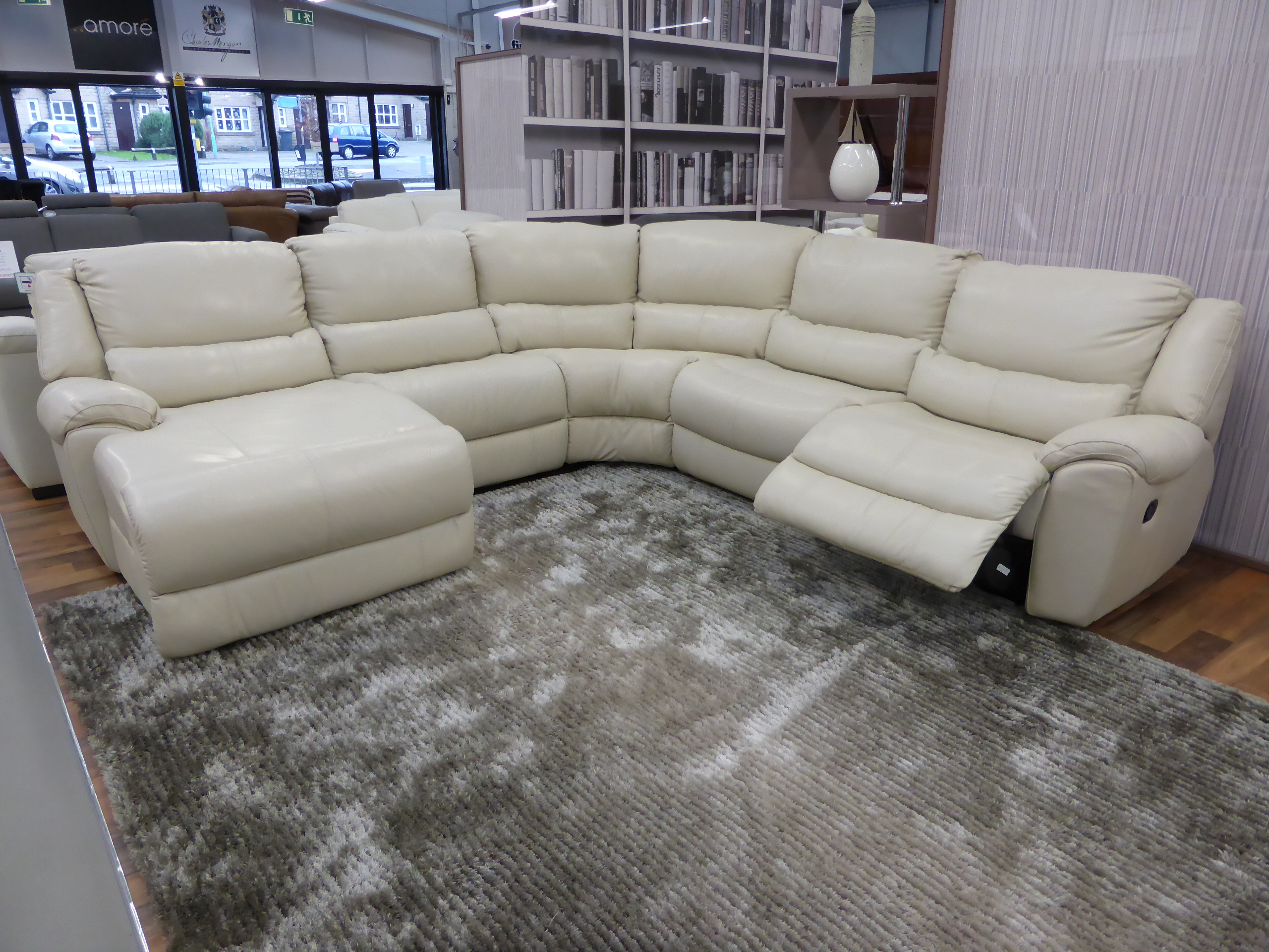 marco cream chaise sofa by factory outlet genuine leather sectional canada mizzoni italia reclining corner furnimax