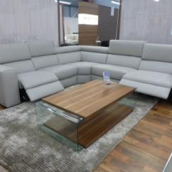 The Leather Sofa Company Uk Sectional That Turns Into A Bed Natuzzi Editions Urban Grey Power Reclining Corner ...