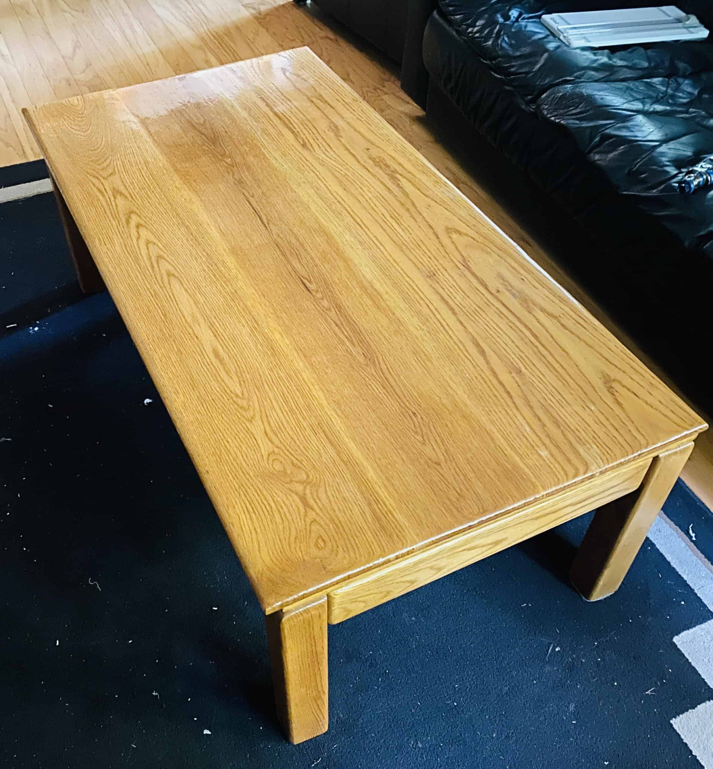 Oak Living Room Table
