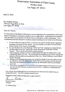 Letter of Accusations from Corinne Escobar and the PACC