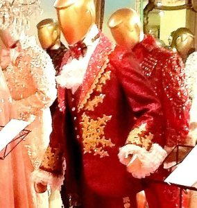 Behind T?he Candelabra Red Costume worn by Michael Douglas
