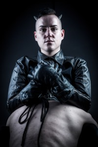 Master Dominic slave Leather Hood Gloves Jacket London UK BDSM