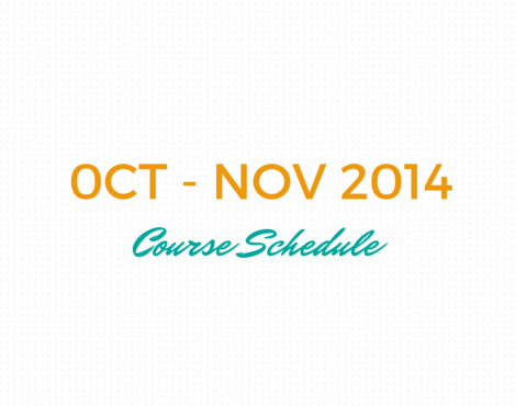 OCT-NOVCourse schedule