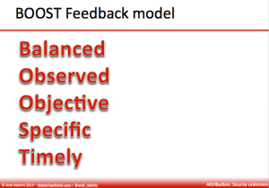 Boost feedback model