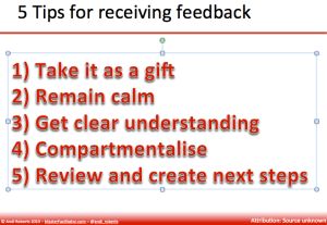 5 tips for receiving feedback