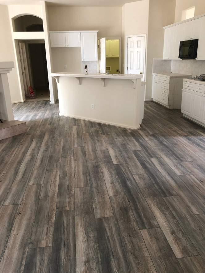 Laminate in open concept home