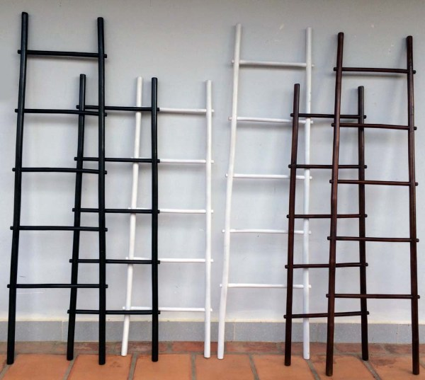 Colored Bamboo Ladder Rack