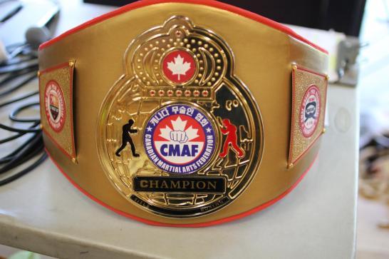 Teen Female Black Belt Grand Champion Sparring belt