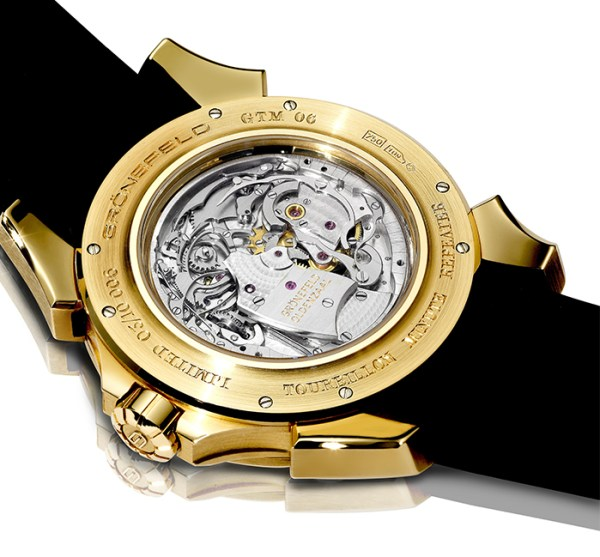 Gronefeld GTM-06 Tourbillon Minute Repeater watch case back movement view