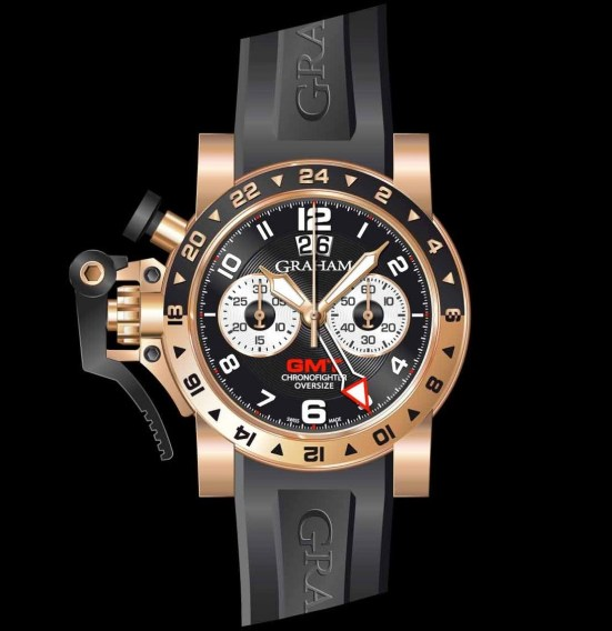 Graham Chronofighter Oversize Gold GMT Big date, Reference 2OVGR.B21A.K10B