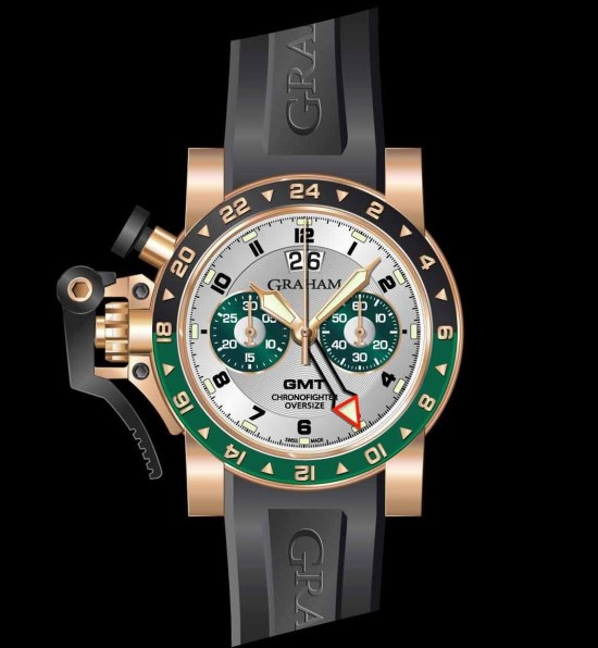 Graham Chronofighter Oversize Gold GMT Big date, Reference 2OVGR.S06A.K10B