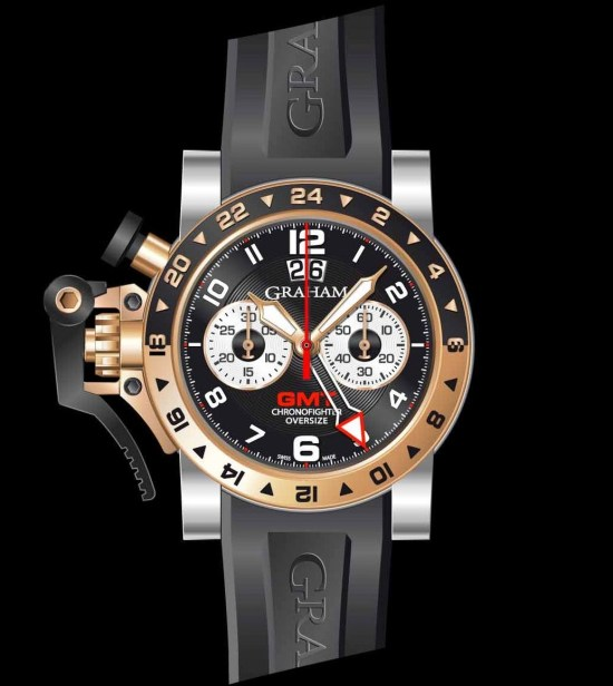 Graham Chronofighter Oversize Steel & Gold GMT Big date, Reference 2OVGG.B21A.K10S