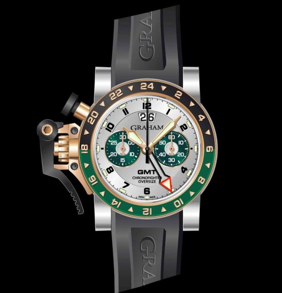 Graham Chronofighter Oversize Steel & Gold GMT Big date, Reference 2OVGG.S06A.K10S