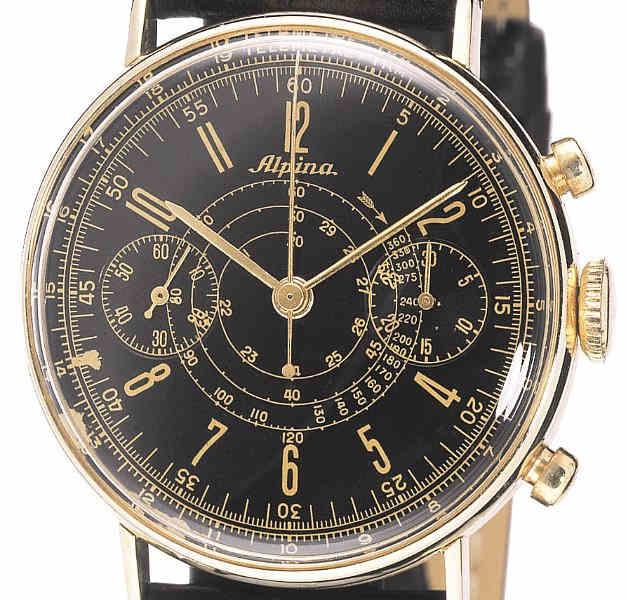 Historical Alpina Gold Chronograph of 1930's