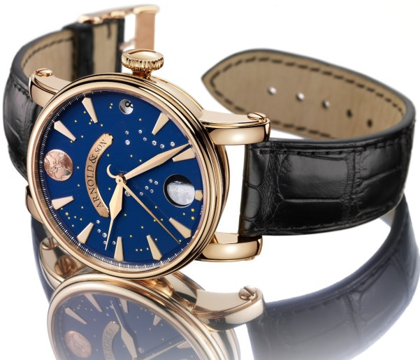 Arnold and Son True Moon watch rose gold version