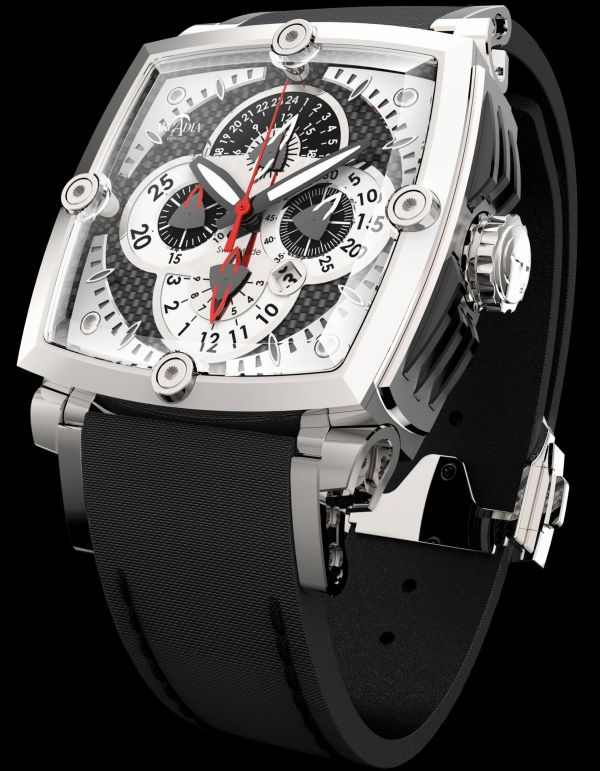 Arcadia AC01 swiss made automatic chronograph watch with tonneau case