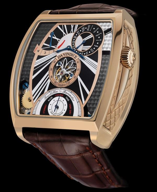 Da Vindice Vindex Tourbillon Barometer watch pink gold version