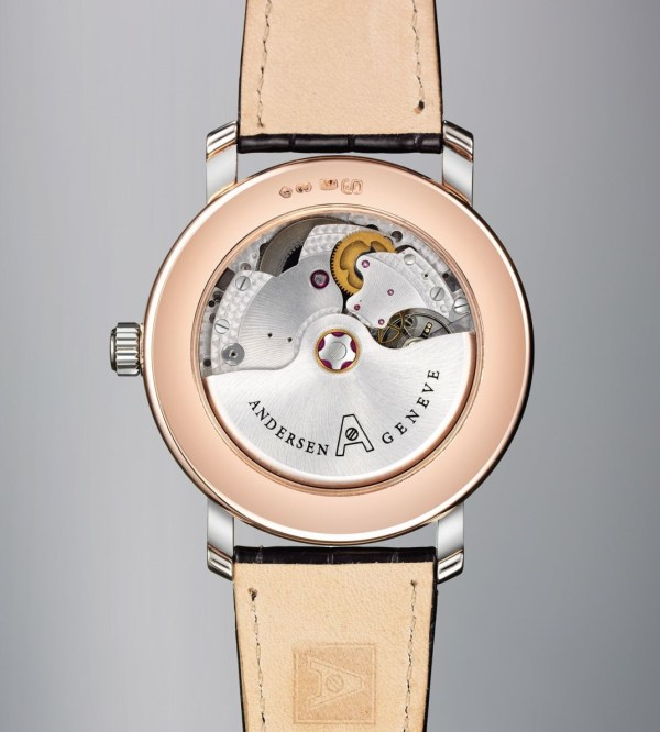 Andersen Geneve Rodinia watch caseback view