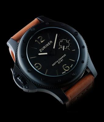 ZURINER DEPTH-CHARGE ZV-01 V05 diving watch black dlc case