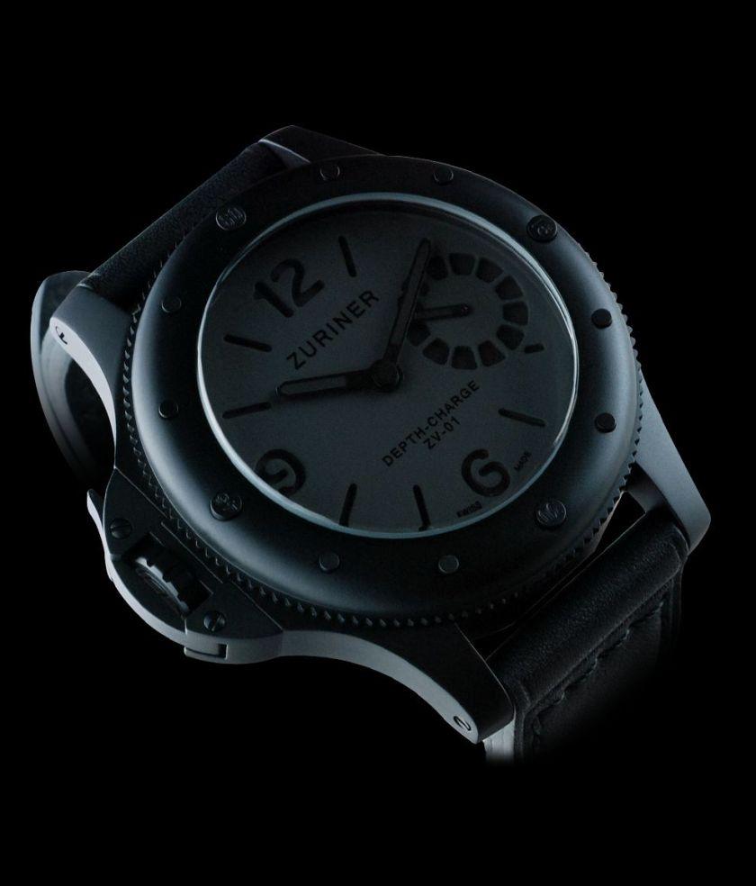 ZURINER DEPTH-CHARGE ZV-01 V07 diving watch with black dlc case